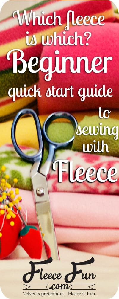 I didn't know there were so many different types of fleece! And she has links to a ton of FREE fleece patterns. Love this sewing site!