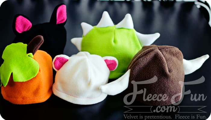 I love all of these free fleece hat DIY's on fleece fun