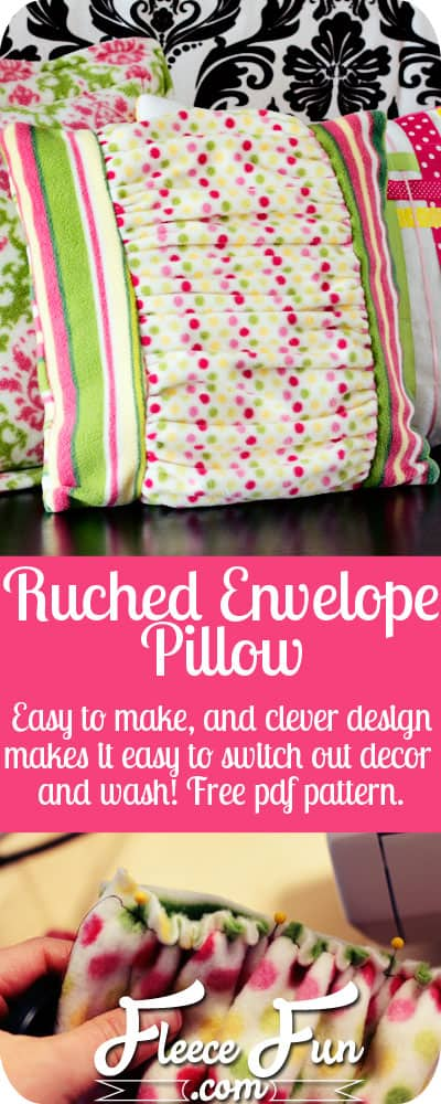 Easy Ruched Pillow Tutorial. Free pdf pattern with easy to follow instructions. Love how the pattern has different pillow sizes!