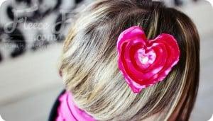 how to make a ehart hair clip