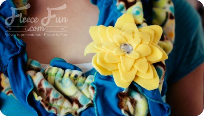 how to make a no sew fleece flower
