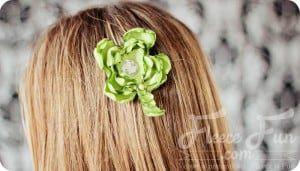 st patricks day hair accessory tutorial