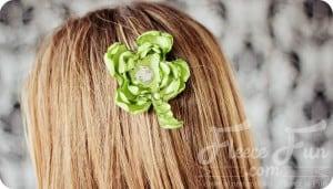 st patricks day hair accessory tutorial