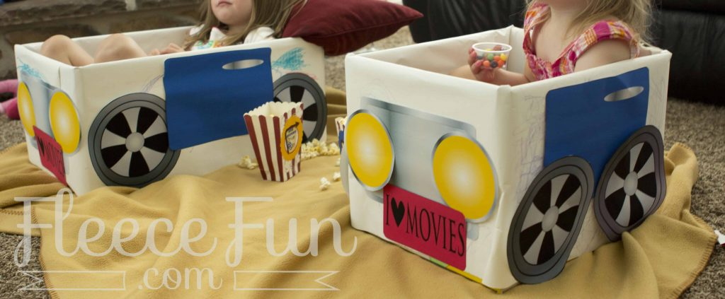 Make cute drive in theater cars with this free printable.
