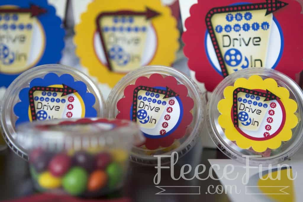 """Make a cute concession stand for you """"Drive in Theater"""" Party free printable!"""