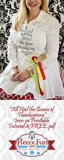 """I love the """"hail of queen of thanksgiving """" printable apron!"""