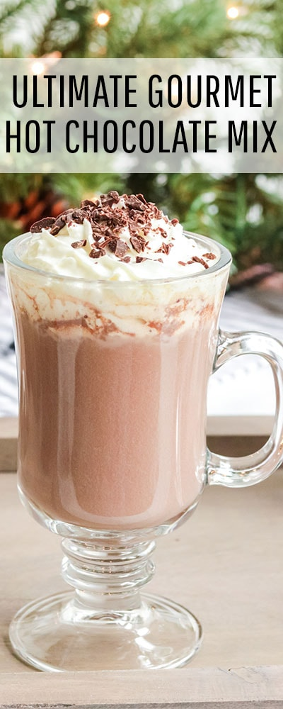 You can make this Ultimate Gourmet Hot Chocolate Mix Recipe (Homemade) - easy and makes a great gift! Ingredients can be found at your local grocery store! #hotchocolaterecipes #hotchocolatemixrecipedry #hotchocolaterecipeshomemade #hotchocolatemixrecipe