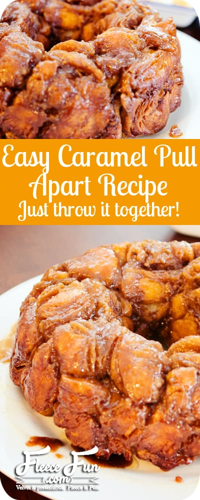 Dead simple to make. Perfect for mornings that you want a warm gooey breakfast but don't want to make a lot of effort. Actually I think that's every morning. :)Easy caramel pull apart recipe or monkey bread recipe