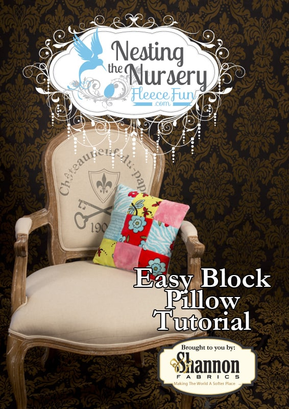 I love this easy to follow block pillow tutorial.  It's a perfect soft pillow to decorate the nursery ( or any room) with.  Great DIY sewing tutorial with a video.