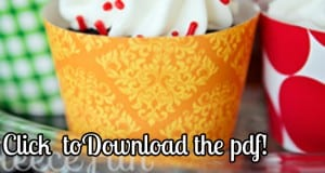 free fall printable cupcake wraps