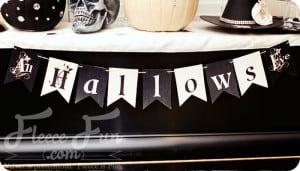 free halloween printable banner