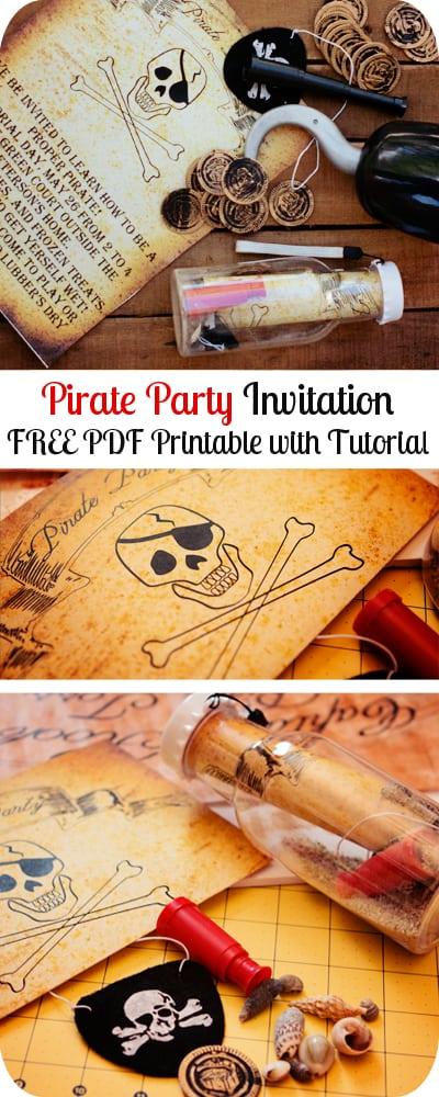free pirate party invitation printable