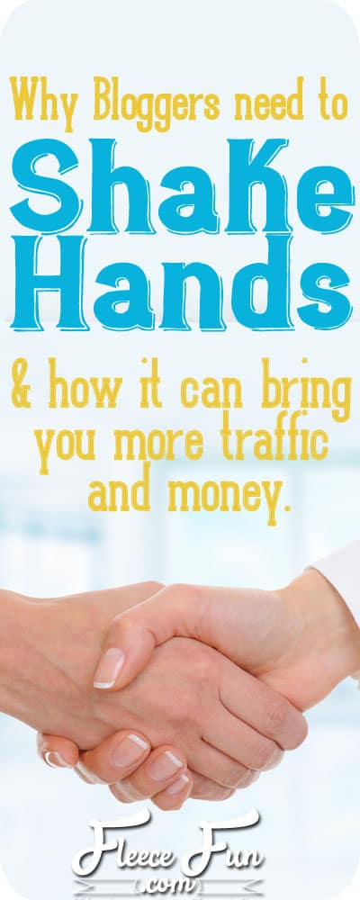 blogging tips why bloggers need to shake hands 1