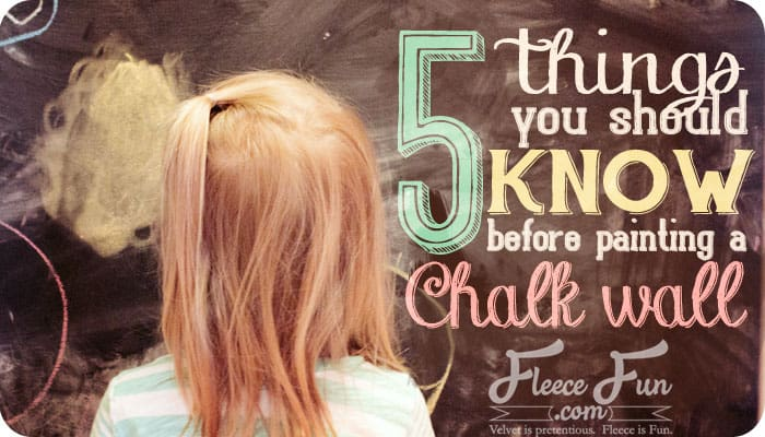 How to paint a chalk board wall. 5 easy tips.