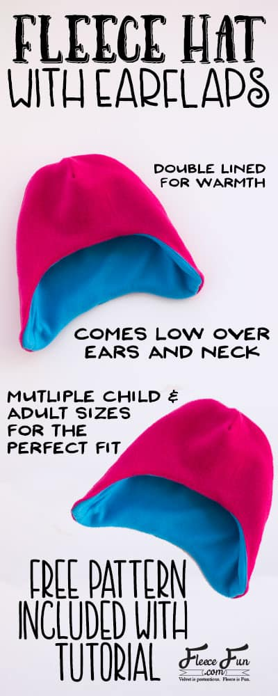 Reversible Fleece Hat Pattern : reversible, fleece, pattern, Fleece, Flaps, Pattern, (free), Tutorial