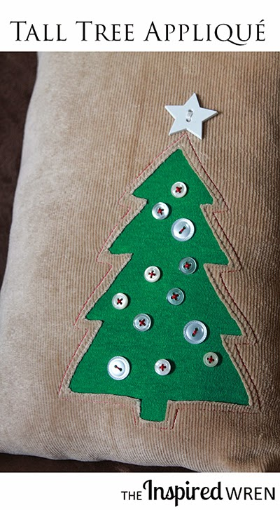Sew a cozy pillow with a Tall Tree Appliqué perfect for the Holiday Season.  Love this Holiday sewing project for Christmas. HO