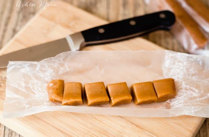homemade buttery caramels