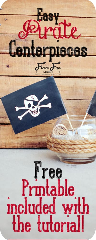 I love these pirate centerpieces.  These are a perfect pirate party DIY idea.