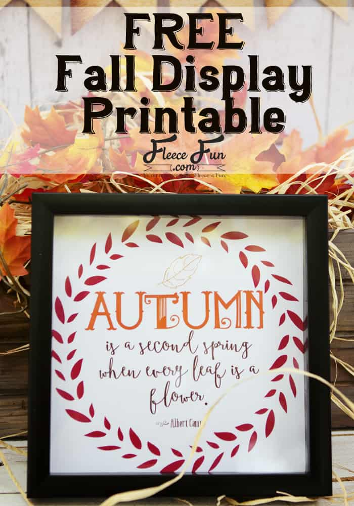 I love this free autumn quote that you can print up and frame in a snap!