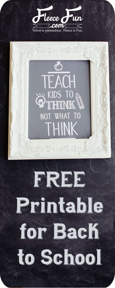 FREE Printable for Back to School. The cute gray and white printable looks good in a nursery, study nook, or classroom. A perfect teacher gift, this printable's simple design looks great in a elegant black frame. Assembly is easy and you just need a few elements to finish it off!