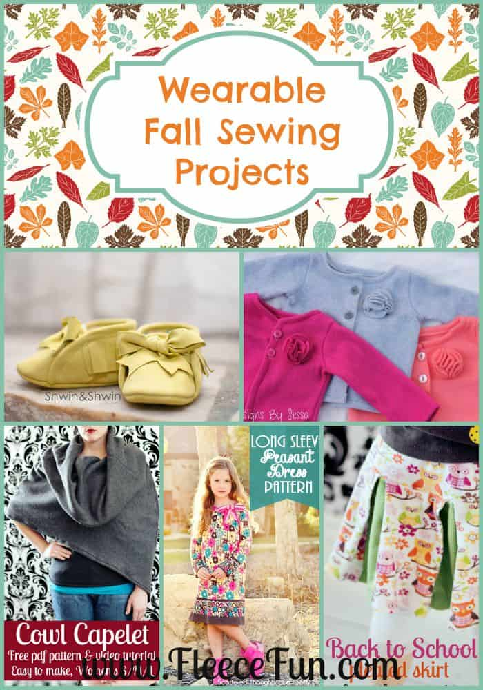 I love all these wonderful ideas for fall sewing!