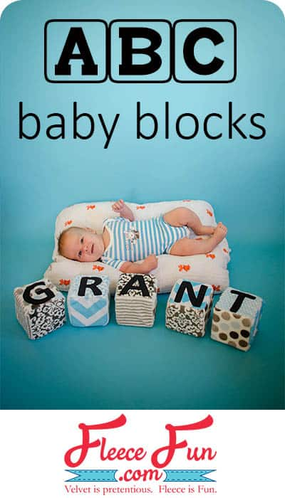 I love these giant blocks you can make for baby.  So cute and a great DIY idea for a baby to play with.  Love sewing for baby.