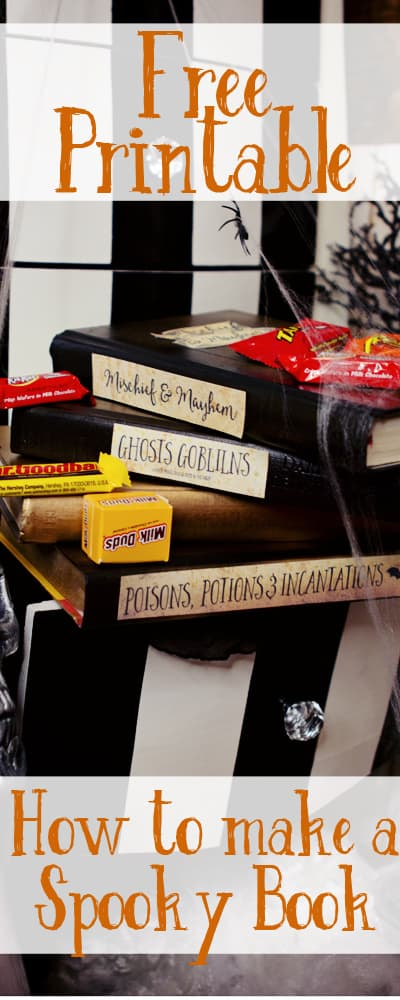 "Love this idea on how to make ""spooky"" books fast and cheaply! Perfect for Halloween."
