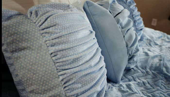 ruched pillows 1
