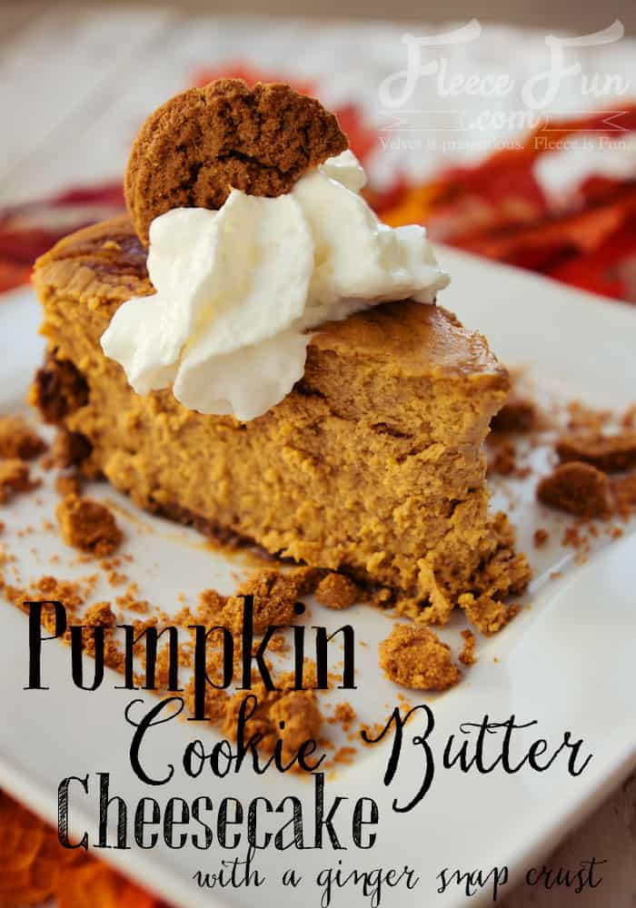 Wow this pumpkin recipe sounds heavenly. A perfect fall treat with pumpkin and cookie butter plus a ginger snap crust! Yummy perfect for Thanksgiving or an autumn party.