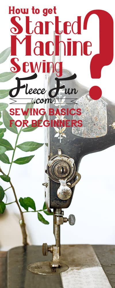 I love how she shows the basics to how to sew with a sewing machine.