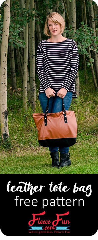 I love this leather tote bag tutorial.  I love the sewing directions and how to make this functional bag! Great DIY idea. Perfect idea for those who like bags and purses to sew or sewing projects. Tote bag pattern free is my favorite.