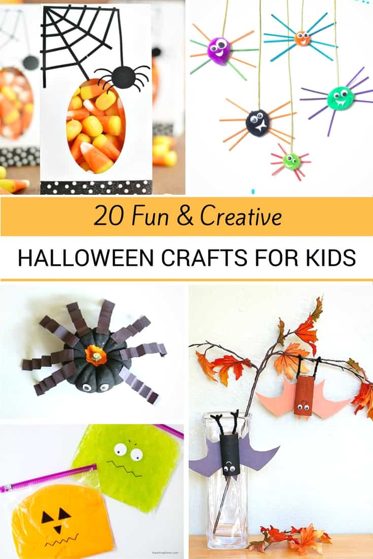 I love all these fun crafts kids can do for Halloween.  Great DIY Ideas for keeping kiddos busy.