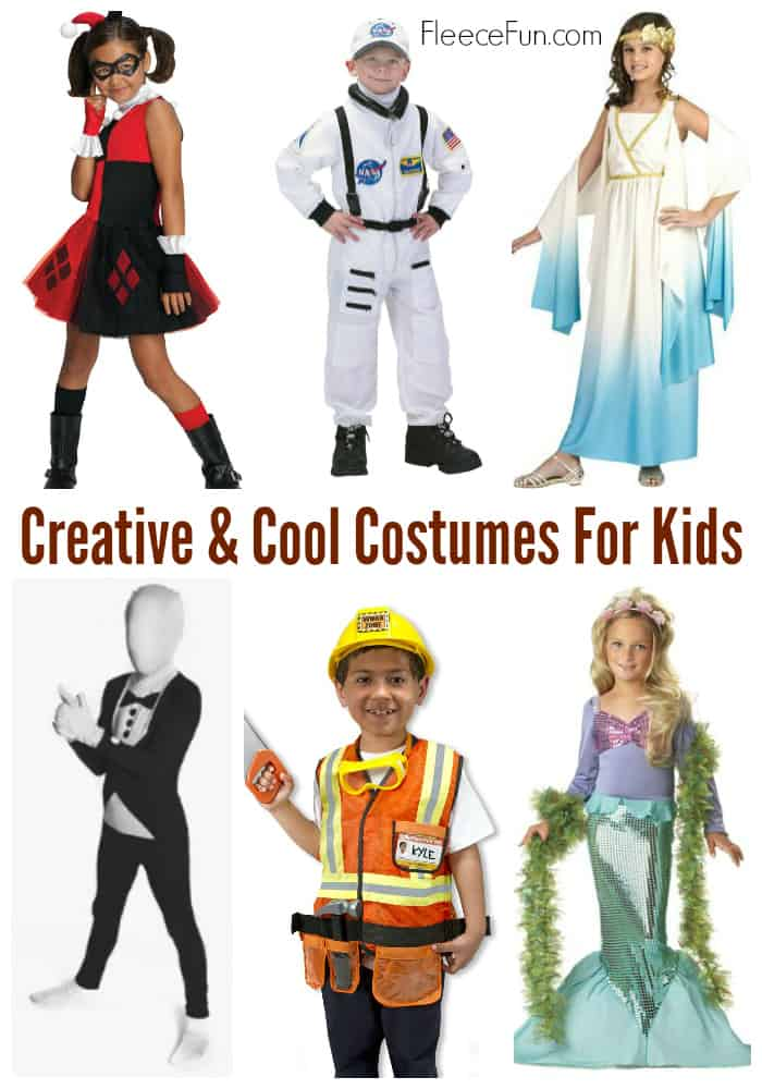 I love all these different costume ideas for Halloween for kids.  Children love costumes that are different and spark creativity.