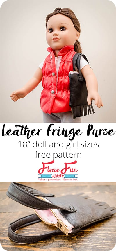 I love this 18 inch doll purse tutorial that comes in doll and girl size so they can have matching purses!