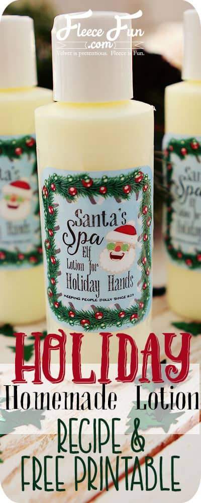 I love this easy to follow tutorial on how to make holiday homemade lotion. Great holiday gift DIY idea.