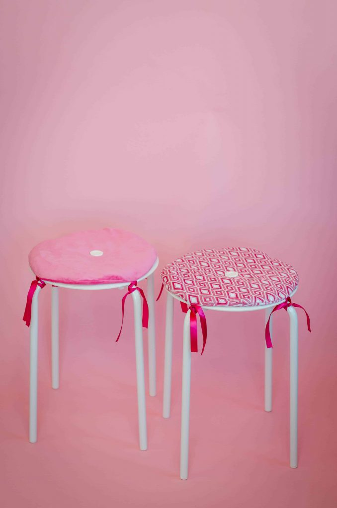 This Ikea Fabric Stool Cushion Tutorial is fun home decor project. This sewing project is a great DIY idea.