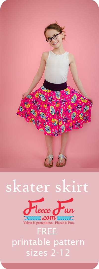 This circle skirt pattern for girls has a free downloadable pattern to make sewing a breeze.  No math or calculations needed to make this easy (not to mention cute!) sewing project. Comes in sizes 2 to 12.