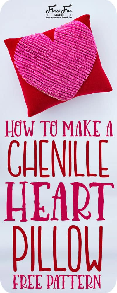 You can learn how to make a chenille heart pillow with this easy sewing tutorial. Great Valentine's DIY idea. Love this sewing project.