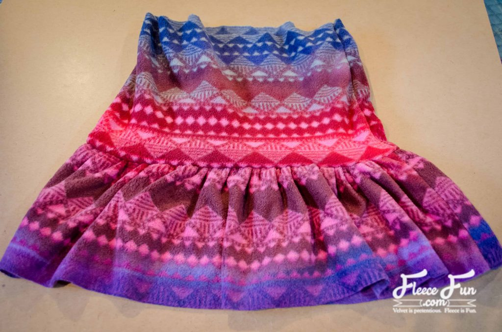 This fleece ruffle skirt tutorial is an easy sewing project. It looks so cute over a pair of leggings and is a great way to add layers for warmth!