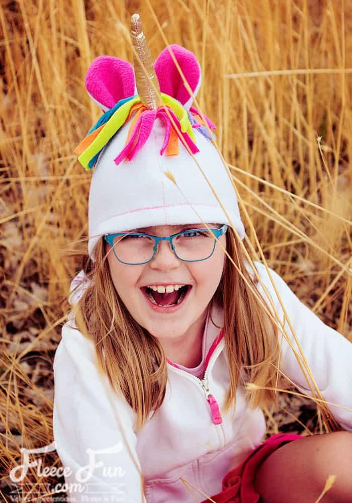 It's the start of the 2017 Season of Fleece Fun!  New Pattern – Unicorn Hat