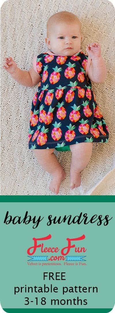 I love this baby sundress tutorial that has a free sewing pattern. So sweet and simple. Great Sewing Project for babies. I love sewing baby clothes for my little one.