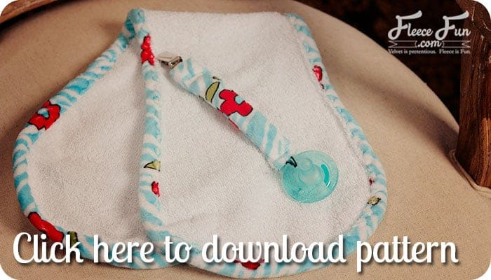 This free baby burp cloth pattern is shaped to easily fit the shoulder while giving maximum coverage. The soft material is nice for baby and had a wonderful boutique feel. Plus there is a step by step video to make it easy.