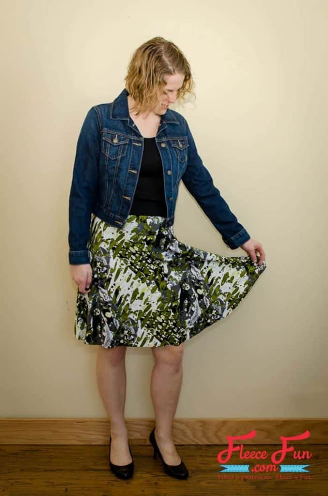 This Half Circle Skirt Pattern for Women is FREE and requires zero calculations. This simple and beginner friendly tutorial has three seams and your done! Can be made in under an hour Love this sewing project for women.