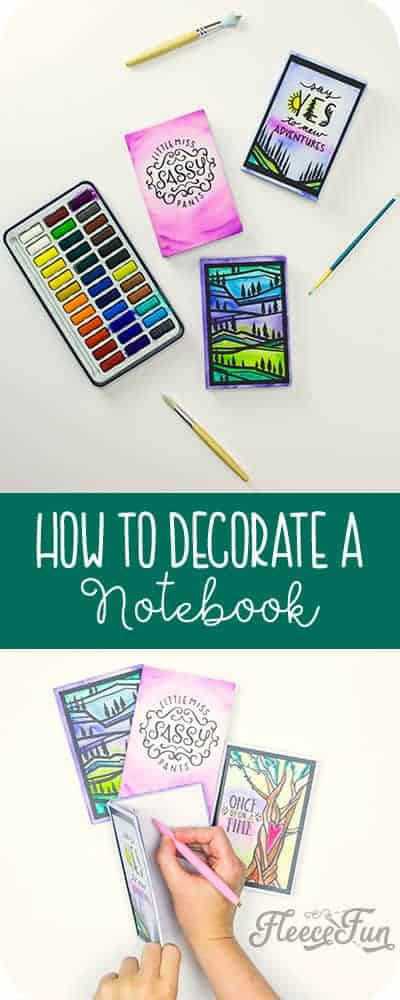You can learn how to decorate a notebook with this easy to follow step by step tutorial with lots of pictures and clear instructions.  Make a cute keepsake or handmade gift with this DIY.