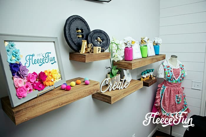 You'll love these Craft Room Ideas and the beautiful pictures of this craft room makeover. She takes it from dark and cluttered to airy and wow!