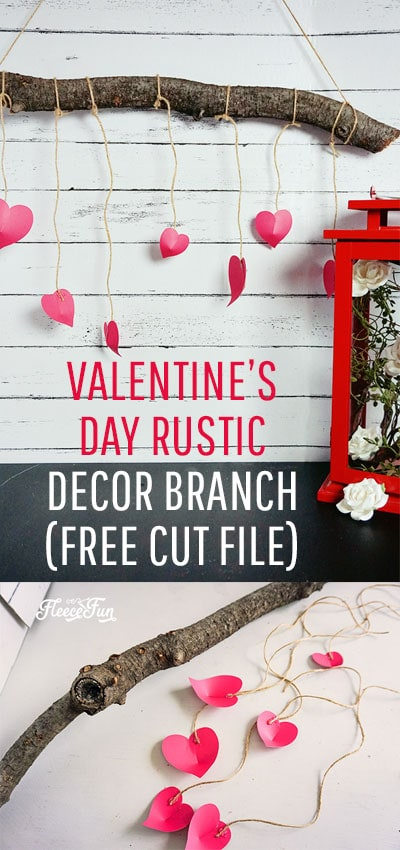 Perfect Valentine Decoration Ideas. This rustic heart branch is beautiful, simple and the step by step DIY comes with a free SVG cut file! #valentinesday #valentinedecorationsideas #valentinesdaydoordecorations #valentinesdoordecor #valentinesDIY #valentinesdaydiy #valentinesdayhomedecor #cricut #freesvg #freecutfile