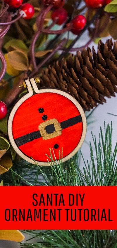 Santa Ornament DIY