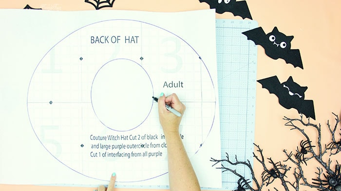trace brim to interfacing. Learn how to make a witch hat with this free pdf pattern and step by step tutorial. This couture style hat is sure to be a favorite year after year.