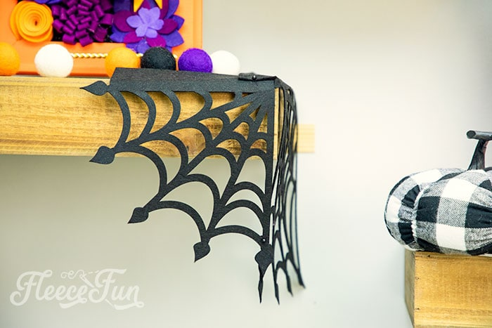 Picture of wrap around we for shelving. These Spider Web doilies Free SVG files are the perfect finishing touch to you Halloween decor!  The free SVG includes 3 designs for decorating spookiness!