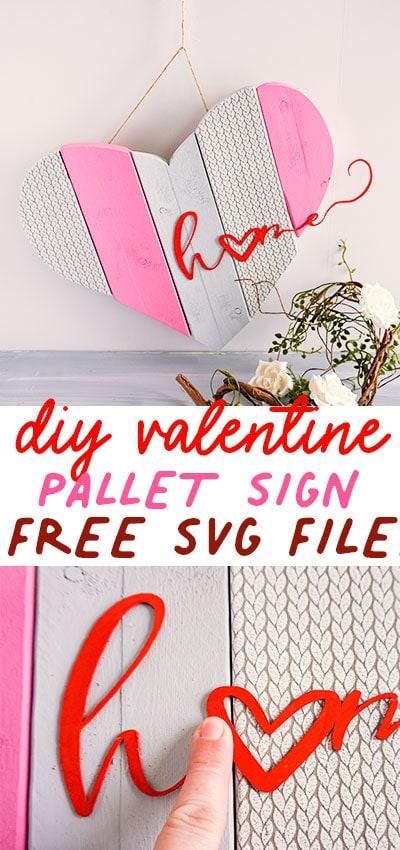 DIY Valentine Craft – Cozy Home Sign